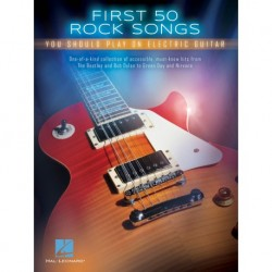 First 50 Rock Songs Guitare - Recueil