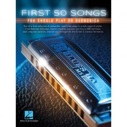 First 50 Songs You Should Play on Harmonica - Recueil