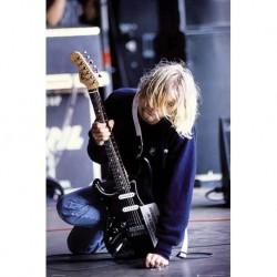 Kurt Cobain - Electric Guitar - Wall Poster - Affiche