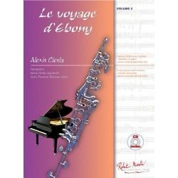 Alexis Ciesla - Le Voyage d'Ebony Clarinette et Piano - Recueil
