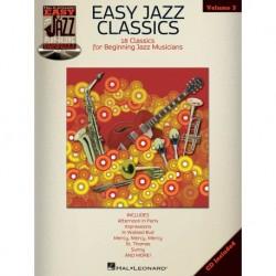 Easy Jazz Classics Flute, Violin, Guitar, Clarinet, Trumpet, Saxophone, Trombone, Chords - Recueil + CD
