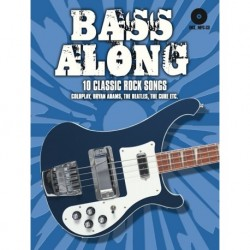 Bass Along - 10 Classic Rock Songs Bass Guitar - Recueil + CD