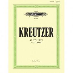 Rodolphe Kreutzer - 42 Etudes (Caprices) Violin - Recueil