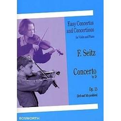 Friedrich Seitz - Concerto in D Op. 15 Violon et Piano - Recueil