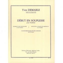 Yves Demarle - Début En Souplesse Trombone - Recueil
