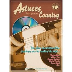 Denis Roux/Laurant Miqueu - Astuces de la Guitare Country Vol. 1 - Recueil + CD