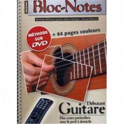 Denis Roux - Méthode Bloc-Note Guitare - Recueil + DVD