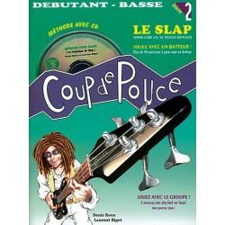 Denis Roux - Coup de Pouce Débutant Basse Volume 2 - Le Slap - Recueil + CD