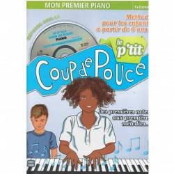 Le P'tit Coup De Pouce Piano - Recueil + CD