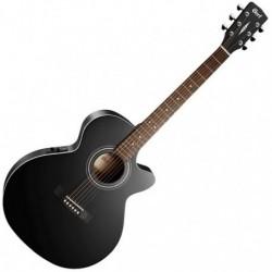 Cort SFX-MEBKS - Guitare électro-acoustique noire type folk
