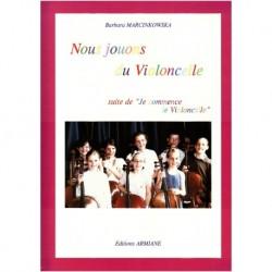 Armiane NOUS - Barbara Marcinkowska - Nous jouons du violoncelle - Recueil + CD