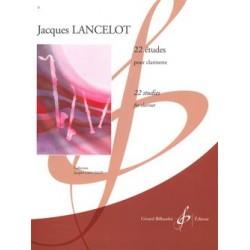 Jacques Lancelot - 22 Etudes - Clarinet - Recueil
