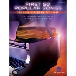 First 50 Popular Songs - Easy Piano - Recueil
