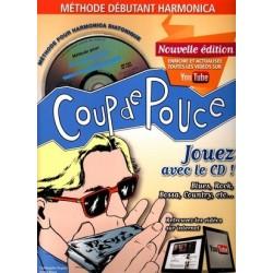 Denis Roux - Coup De Pouce Debutant Harmonica (ancienne édition) - Harmonica - Recueil + CD + Liens Youtube