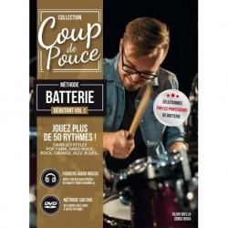 Denis Roux - Coup De Pouce Debutant Batterie volume 1 - Recueil + Enregistrement(s) en ligne