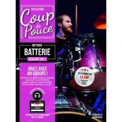 Denis Roux - Coup de pouce 2 Debutant Batterie - Recueil + Enregistrement(s) en ligne