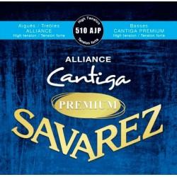Savarez 510AJP - Jeu de cordes Alliance-Cantiga Premium Bleu tirant fort pour guitare classique