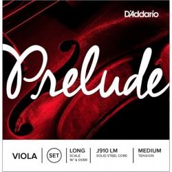 D'Addario J910 LM - Jeu de cordes pour violon alto 40,6 à 41,9 cm tension medium