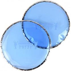 Gawharet El Fan PEDR102 - Peau derbouka bleue sertie (L'unité)