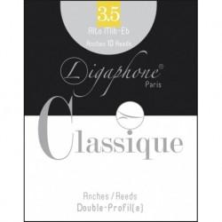 Ligaphone 10AC3 - Boite de 10 anches force 3 classique double profil pour saxophone alto