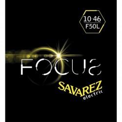 Savarez F50L - Jeu de cordes Focus 10-46 pour guitare électrique