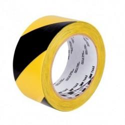 3M - Ruban adhésif vinyl rayé Noir-Jaune 50mm x 33m