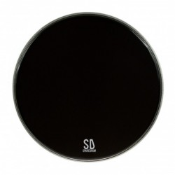 "Sparedrum PK22DB-B - Peau GC 22"" Powerkick Dark Black - 1 pli + muffler - 10 mil"