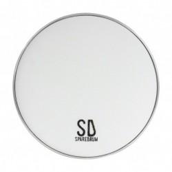 "Sparedrum M3W10 - Peau 10"" Mute 3 plis - Mesh Silencieuse - Blanc"