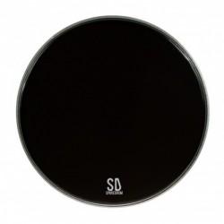"Sparedrum PK18DB-B - Peau GC 18"" Powerkick Dark Black - 1 pli + muffler - 10 mil"