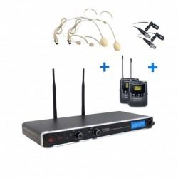 Definitive Audio DA UHF PT 200 - Micro Double Serre Tête Simple UHF