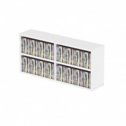 Glorious Dj CD BOX 180 WHITE - Casier de rangement 180 CD finition blanche
