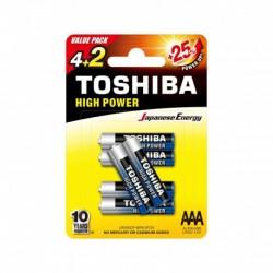 Toshiba LR03GCP BP-6 2F CN - Piles LR03 - Pack de 6