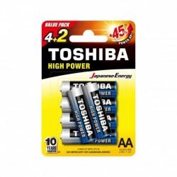 Toshiba LR6GCP BP-6 2F CN - Piles LR6 - Pack de 6