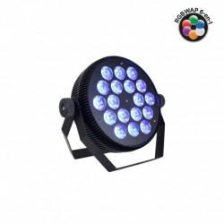 Power Lighting PAR SLIM 18x10W HEXA - Par Slim 18x10W 6-en-1