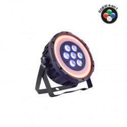 Power Lighting PAR SLIM 7x10W QUAD RING - Par Slim 7x10W 4-en-1 avec anneaux