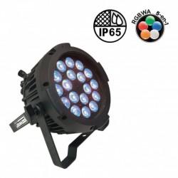 Power Lighting PAR SLIM 18x10W IP65 PENTA40 - Par Slim 18 Leds de 10W 5-en-1 (angle 40°)