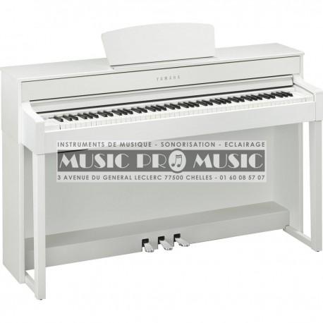 yamaha clp 535wh piano num rique blanc satin avec meuble. Black Bedroom Furniture Sets. Home Design Ideas