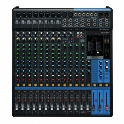 Yamaha MG16XU - Table de mixage 16 canaux 3 aux 24 effets USB 2in/2out + câble d'alimentation + flightcase