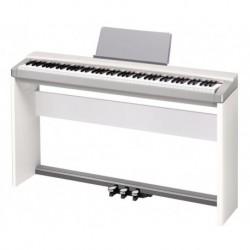 Casio PX-130WE Piano numérique portable avec meuble blanc + pédalier + alimentation + pupitre + banquette X (tarif 48h ou WE)