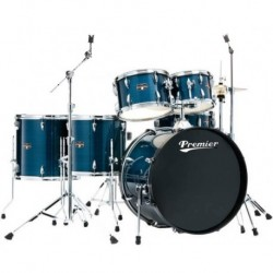"Premier XPK Bleue - Batterie acoustique 20"" (GC,CCL,TA,TM,TB,TB) + hardware + siège + tapis (tarif 48h ou WE)"