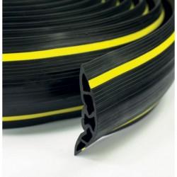Passage de câble 1000x121x23mm caoutchouc noir charge max. 200 kg 3 canaux 16,7x15mm (tarif 48h ou WE)