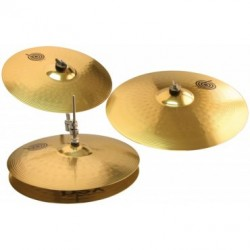 "Set de cymbales étude (Hit-Hat14"",Crash16"",Ride20"") + housse (tarif 48h ou WE)"