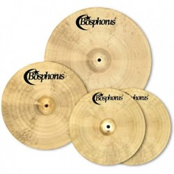 "Set de cymbales Bosphorus Traditionnal (Hit-Hat14"",Crash/Ride18"",Ride22"") + housse (tarif 48h ou WE)"