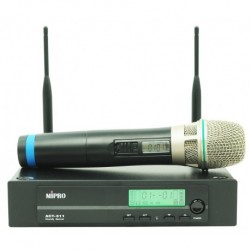MiPro ACT311 / ACT32H - Micro main UHF (livré sans pile) + recepteur 2 antennes + adaptateur secteur + housse (tarif 48h ou WE)
