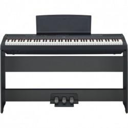 Piano numérique portable d'étude avec meuble et pédalier 3 pédales + banquette + adaptateur secteur (tarif/mois dégressif)