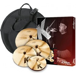 "Set de cymbales Zildjian K Custom (Session Hit-Hat14"",Fast Crash16"",Fast Crash18"",Ride22"") + housse (tarif 48h ou WE)"