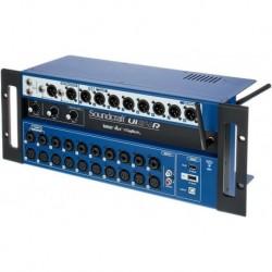 """Soundcraft UI24R - Rack de mixage numérique 22in/10out avec enregistreur/lecteur USB + rack 19"""" + câble alim (tarif 48h ou WE)"""