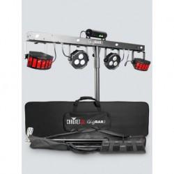 Chauvet GIGBAR2 - Barre éclairages Leds (Pars,Derby,Laser,UV,Strob) + pédalier + pied + softcase + câble alim (tarif 48h ou WE)