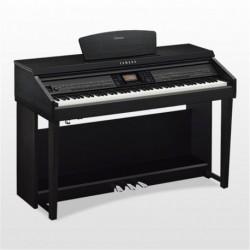 Yamaha CVP701PE - Piano numérique arrangeur noir laqué avec meuble