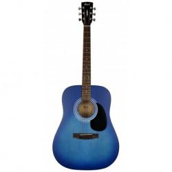 Cort AD810 - Guitare acoustique bleu dégradé pores ouverts